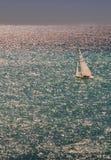 Puesta del sol de la navegación en Niza Fotos de archivo libres de regalías