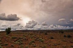 Puesta del sol de la nube de 3 D Imagenes de archivo