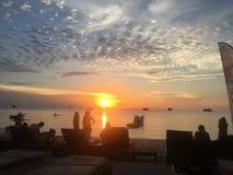 Puesta del sol de la opinión de la isla del paraíso de Koh Tao Thailand Fotografía de archivo libre de regalías