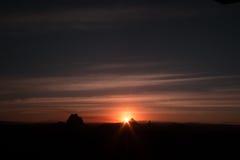 Puesta del sol de la oscuridad Imagen de archivo libre de regalías
