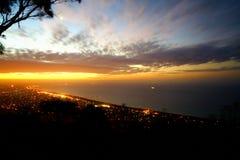 Puesta del sol de la península de Mornington Imagen de archivo libre de regalías