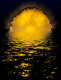 Puesta del sol de la piña Fotografía de archivo libre de regalías