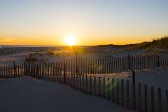 Puesta del sol 3 de la playa Fotos de archivo