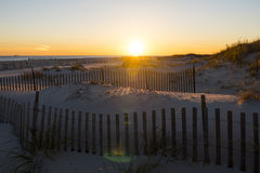 Puesta del sol 4 de la playa Imagen de archivo libre de regalías