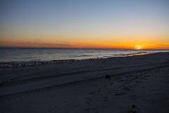 Puesta del sol 7 de la playa Imagen de archivo