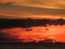 Puesta del sol 008 de la playa Foto de archivo libre de regalías