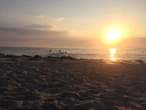 Puesta del sol de la playa de Cape May foto de archivo libre de regalías