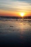 Puesta del sol de la playa de 80 millas fotografía de archivo libre de regalías