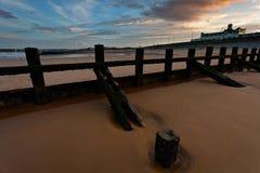 Puesta del sol de la playa de Aberdeen Imagen de archivo libre de regalías