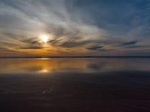 Puesta del sol de la playa de Grayland Fotos de archivo