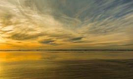 Puesta del sol de la playa de Grayland Imágenes de archivo libres de regalías