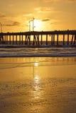 Puesta del sol de la playa de Venecia Imagenes de archivo