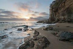 Puesta del sol de la playa de Victoria foto de archivo