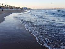 Puesta del sol de la playa de España foto de archivo libre de regalías