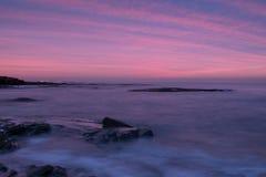 Puesta del sol de la playa de Palmachim Foto de archivo libre de regalías