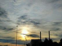 Puesta del sol de la primavera Fotos de archivo
