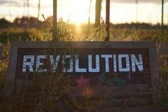 Puesta del sol de la revolución Imagen de archivo libre de regalías