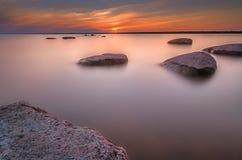 Puesta del sol de la roca Imágenes de archivo libres de regalías