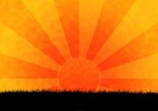 Puesta del sol de la sabana libre illustration