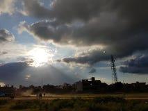 Puesta del sol de la salida del sol de la sol de la belleza de la naturaleza fotografía de archivo