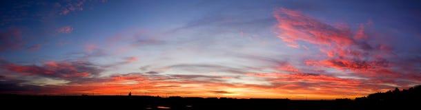 Puesta del sol de la salida del sol sobre Waddington Fotografía de archivo libre de regalías