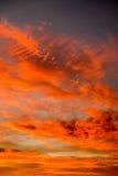 Puesta del sol de la salida del sol sobre Waddington Imagen de archivo