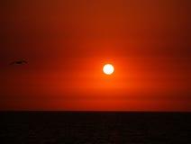 puesta del sol de la sangre Fotografía de archivo libre de regalías