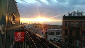 Puesta del sol de la tarde Fotos de archivo libres de regalías