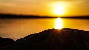 Puesta del sol de la tarde Fotografía de archivo libre de regalías