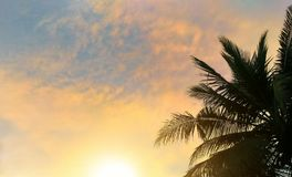 Puesta del sol de la tarde Foto de archivo libre de regalías