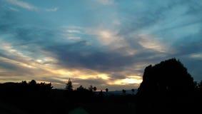 Puesta del sol de la vecindad Imagen de archivo libre de regalías