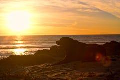 Puesta del sol 01 de Labrador Imagenes de archivo