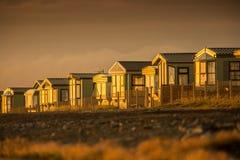 Puesta del sol de las caravanas Foto de archivo