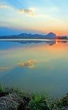 Puesta del sol de las motas de Sutter Imagen de archivo libre de regalías