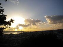 Puesta del sol de Lisboa Imágenes de archivo libres de regalías