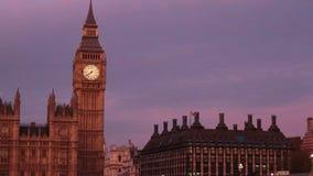Puesta del sol de Londres metrajes