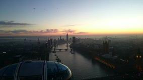 Puesta del sol de Londres Fotografía de archivo libre de regalías