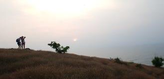 Puesta del sol de los pares fotos de archivo libres de regalías