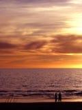 Puesta del sol de los pares imagen de archivo libre de regalías