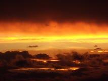 Puesta del sol 1 de los vermelhas de Nuvens Foto de archivo
