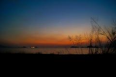 Puesta del sol de Lung Kwu Tan Coastline Foto de archivo