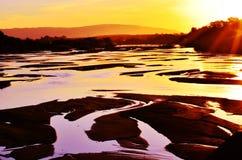 Puesta del sol de Lusutfu Imagen de archivo libre de regalías