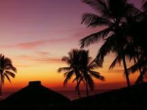 Puesta del sol de México Fotografía de archivo libre de regalías