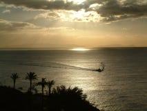Puesta del sol de Madeira Foto de archivo libre de regalías