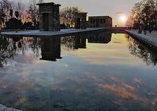 Puesta del sol de Madrid Fotografía de archivo libre de regalías