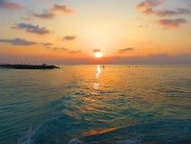 Puesta del sol de Maldivas Fotografía de archivo