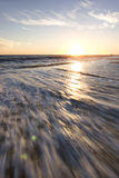 Puesta del sol de Malibu fotos de archivo