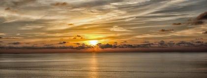 Puesta del sol de Mallorca Fotos de archivo libres de regalías