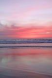 Puesta del sol de Manhattan Beach Imagenes de archivo