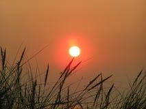 Puesta del sol de Mar del Norte Fotos de archivo libres de regalías